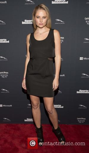 Genevieve Morton - Sports Illustrated Super Bowl Party sponsored by Jaguar, Captain Morgan Rum and Delta Airlines - Arrivals -...