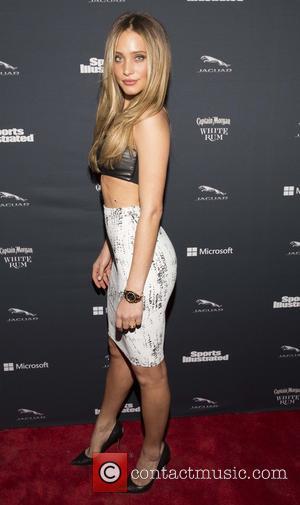 Hannah Davis - Sports Illustrated Super Bowl Party sponsored by Jaguar, Captain Morgan Rum and Delta Airlines - Arrivals -...