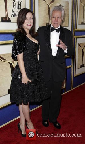Jennifer Tilly and Alex Trebek