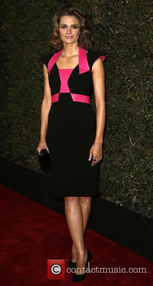 Stana Katic - 66th Annual Writer's Guild Awards Los Angeles Ceremony at JW Marriott - Arrivals - Los Angeles, California,...