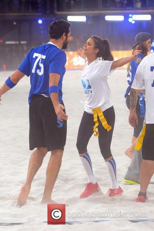 Zachary Levi and Nina Dobrev - DirecTV's 8th Annual Celebrity Beach Bowl held at Pier 40 - Football Game -...