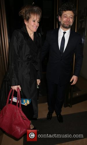 Lorraine Ashbourne and Andy Serkis - The London Critics' Circle Film Awards held at The May Fair Hotel - Departures...