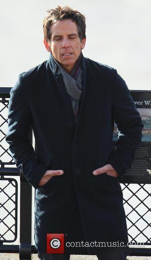 Ben Stiller - Ben Stiller and Skyler Gisondo films a scene for Night at the Museum 3 in London -...