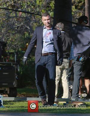 Liev Schreiber - Liev Schreiber on location filming a blood soaked crime scene for the hit TV crime drama 'Ray...