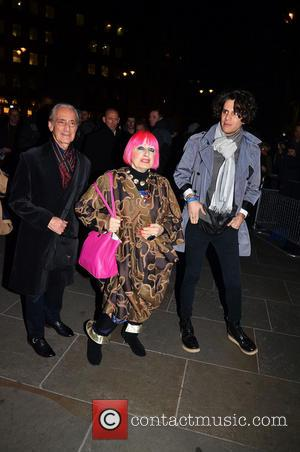 Zandra Rhodes - David Bailey: Bailey's Stardust - VIP private view held at the National Portrait Gallery - Outside Arrivals...