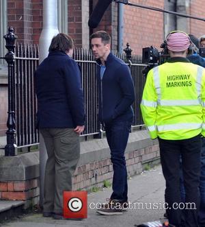 John Bradley and Killian Scott - Filming on the set of 'Traders' in Dublin - Dublin, Ireland - Tuesday 4th...