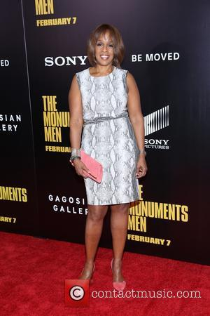 Gayle King - Premiere of 'The Monuments Men' held at the Ziegfeld Theater - Arrivals - New York, New York,...