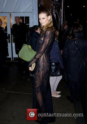 Behati Prinsloo - 2014 amfAR New York Gala at Cipriani Wall Street - Outside Arrivals - New York City, New...