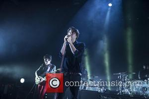 Laurent Brancowitz and Thomas Mars - French rock band, Phoenix performing live on stage at Brixton Academy - London, United...