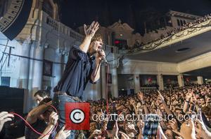 Thomas Mars - French rock band, Phoenix performing live on stage at Brixton Academy - London, United Kingdom - Wednesday...