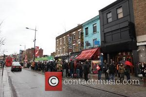 Crowds Outside The Electric Ballroom In Camden Awaiting A Secret Gig By Prince