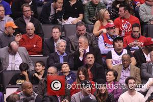 Michael Douglas and Pat Riley - Wednesday February 5, 2014; Celebs out at the Clippers-Heat game. The Miami Heat defeated...