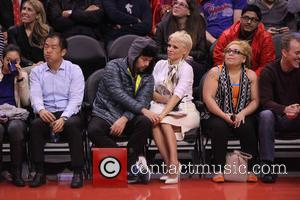 Pamela Anderson - Celebs at the Clippers game.