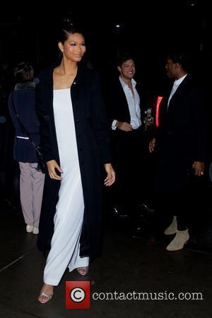 Chanel Iman - 2014 amfAR New York Gala at Cipriani Wall Street - Outside Arrivals - New York City, New...