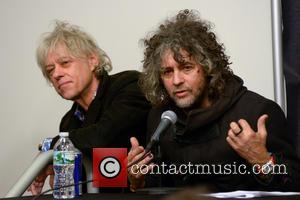 Bob Geldof and Wayne Coyne - CBGB Festival Presents Amnesty International Concert held at the Barclays Center - Press Conference...