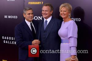 George Clooney, Hugh Bonneville and Lulu Williams