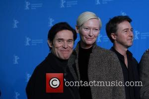 Willem Dafoe (l-r), Edward Norton, Tilda Swinton and Edward Nort