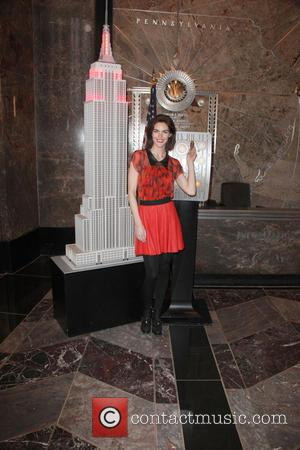 Hilary Rhoda - Model Hilary Rhoda  to Light The ESB in Red in Honor of American Heart Month and...