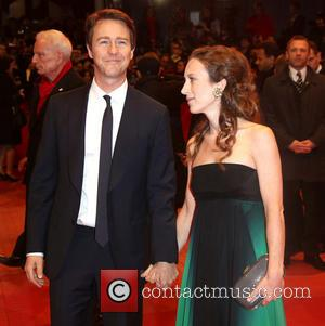 Edward Norton and Shauna Robertson - 64th Berlin International Film Festival - 'The Grand Budapest Hotel' Premiere - Berlin, Germany...
