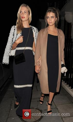 Poppy Delevingne and Cara Delevingne - Chloe Delevingne and husband Ed Grant leaving their wedding reception in Mayfair, which was...
