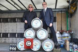 Rick Parfitt and Francis Rossi - Francis Rossi and Rick Parfitt of Status Quo launching 'Piledriver' Official beer, created by...