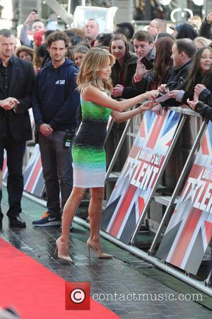 Amanda Holden - Judges arrive at The Lowry Theatre Manchester for Britains Got Talent Manchester - Manchester, United Kingdom -...