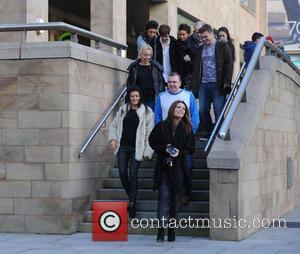 Kym Marsh, Alison King, Emily Cunliffe, Pauline Marsh, Dave Marsh and David Cunliffe - Kym Marsh takes her daughter Emily...