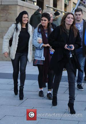 Kym Marsh, Edmily Cunliffe and Alison King - Kym Marsh takes her daughter Emily Mae to audition for 'Britains Got...