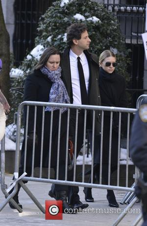 Ashley Olsen and David Schulte - The funeral of actor Philip Seymour Hoffman held at Church of St. Ignatius Loyola...