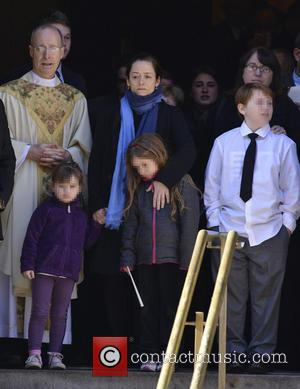 Mimi O' Donnell, Tallulah Hoffman, Cooper Hoffman and Willa Hoffman - The funeral of actor Philip Seymour Hoffman held at...