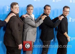 John Goodman, George Clooney, Jean Dujardin and Matt Damon