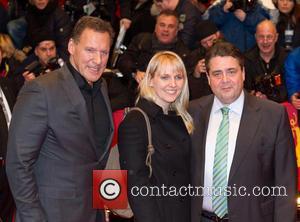 Ralf Moeller, Anke Gabriel and Sigmar Gabriel