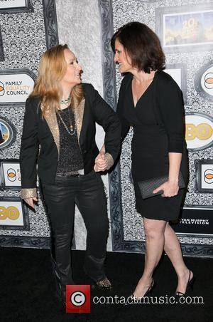 Melissa Etheridge and Linda Wallem - Family Equality Council's Annual Los Angeles Awards Dinner at The Globe Theatre - Arrivals...