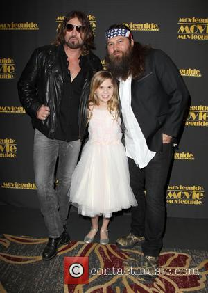 Billy Ray Cyrus, Kyla Kenedy and Willie Robertson - 22nd Annual Movieguide Awards Gala_Press Room At Universal Hilton Hotel -...