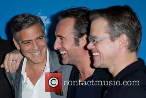 George Clooney, Jean Dujardin and Matt Damon