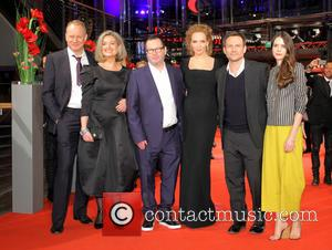 Stellan Skarsgard, Bente Fröge, Lars Von Trier, Uma Thurman, Christian Slater and Stacy Martin