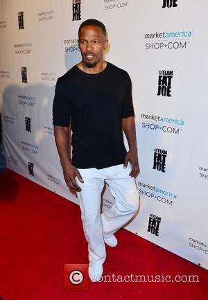 Jamie Foxx - Team Fat Joe and guests celebrate Market America launch - Arrivals - Miami Beach, Florida, United States...