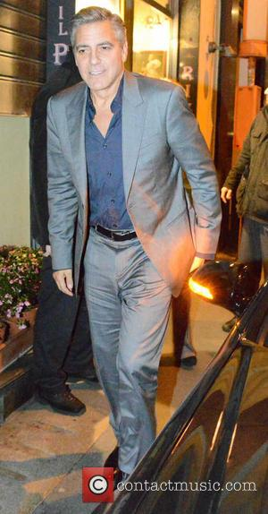 George Clooney - Cast of 'The Monuments Men' at Il Pontaccio restaurant - Milan, Italy - Sunday 9th February 2014