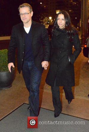 Matt Damon and Luciana Barroso Bozan