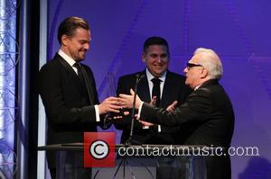 Leonardo Dicaprio, Jonah Hill and Martin Scorsese
