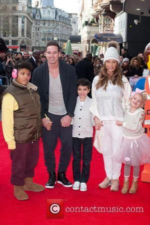 Katie Price, Kieran Hayler, Princess Tiaamii Crystal Esther Andre, Harvey Price and Junior Savva Andreas Andre - The Lego Movie...