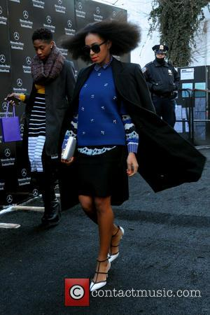 Solange Knowles - Mercedes-Benz Fashion Week Fall 2014 -  Sightings - Manhattan, New York, United States - Monday 10th...