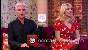 Lynda Bellingham, Phillip Schofield and Holly Willoughby - Lynda Bellingham appears on 'This Morning' to promote her new book 'Tell...