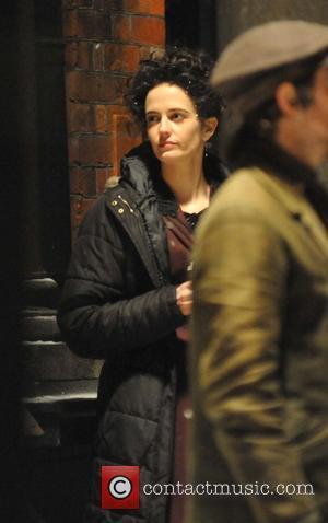 Eva Green - Josh Hartnett filming scenes with actress Eva Green  and actor Timothy Dalton on the set of...