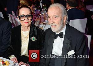 Christopher Lee and his wife Birgit at Cinema for Peace gala at Konzerthaus during 64th International Film Festival. Berlin, Germany...