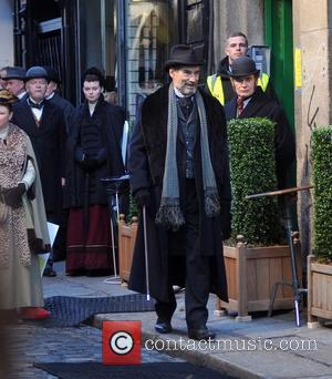 Timothy Dalton - Timothy Dalton on the set of the TV series 'Penny Dreadful' filming on Dame Lane - Dublin,...
