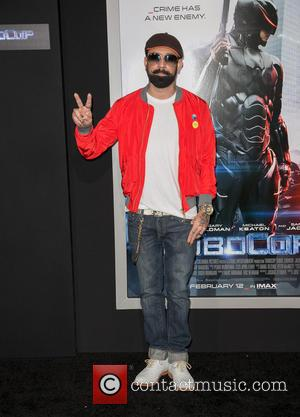 AJ McLean - Los Angeles premiere of Columbia Pictures 'RoboCop' at TCL Chinese Theatre - Arrivals - Los Angeles, California,...