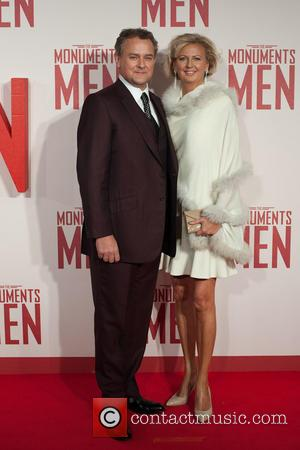 Hugh Bonneville and Lulu Williams - Monuments Men UK film premiere held at the Odeon Leicester Square - Arrivals. -...
