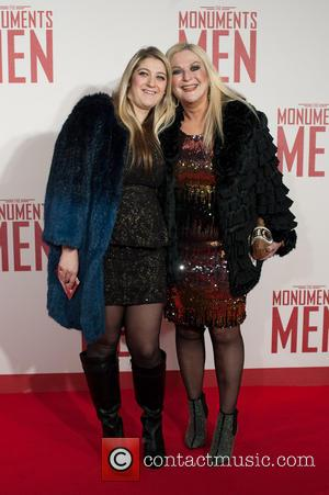 Vanessa Feltz and Allegra - Monuments Men UK film premiere held at the Odeon Leicester Square - Arrivals. - London,...