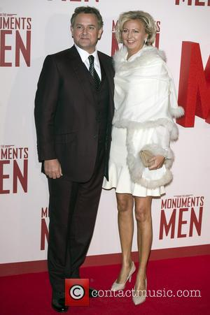 Hugh Bonneville and Lulu Williams - U.K. film premiere of 'The Monuments Men' held at the Odeon Leicester Square -...